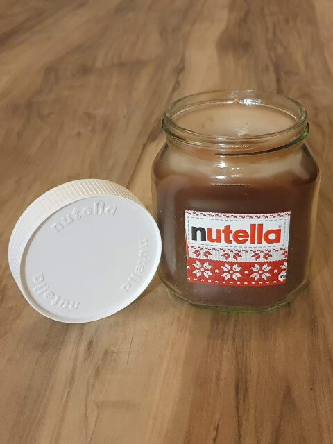 Nutella Geschenk DIY Kerze